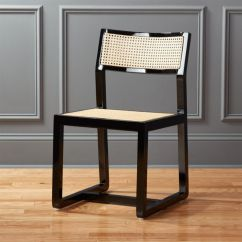 Gray Rattan Dining Chairs Black Wooden Cb2