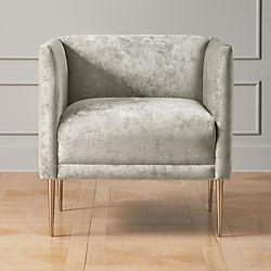 grey club chair high gloss white dining table and chairs modern accent armchairs cb2 marais shadow velvet armchair with brass legs