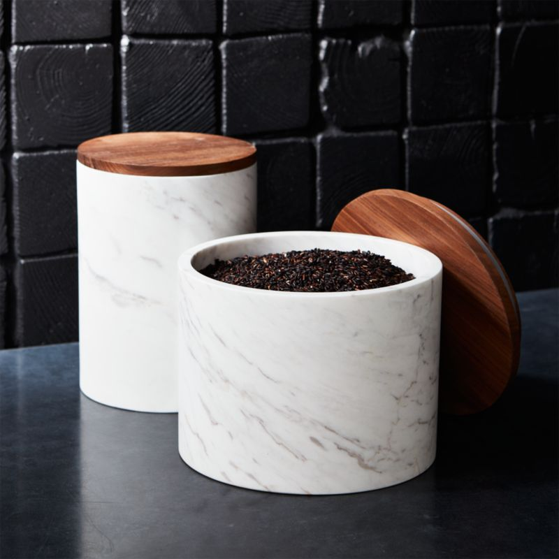 Ishi Marble Canisters  CB2