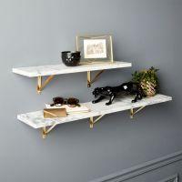 Marble Wall-Mounted Shelves | CB2