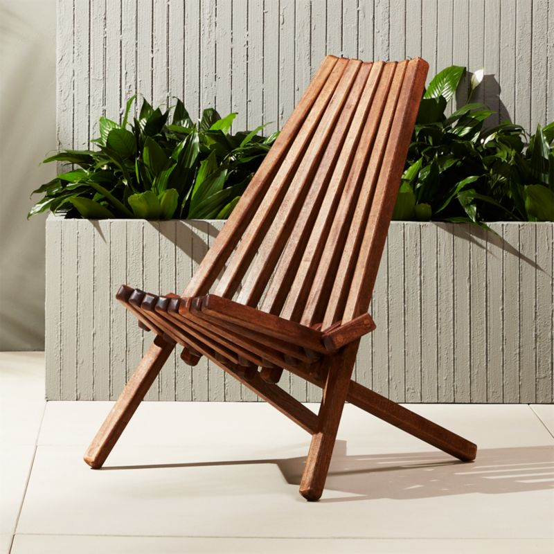 folding chair outdoor swivel gray maya wooden reviews cb2