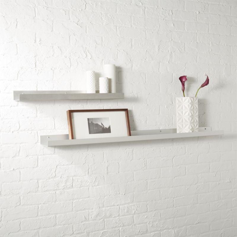 Metal Aluminum Wall Shelves CB2