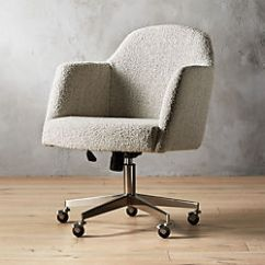 Cool Modern Office Chairs Wheelchair Cat Cb2 Miles Grey Boucle Chair