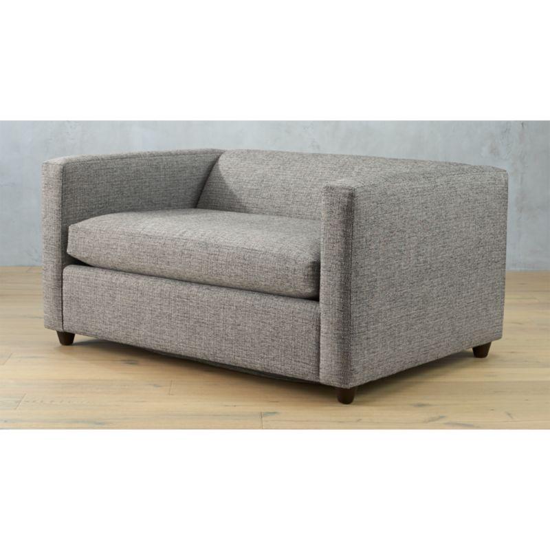 sleeper chair twin eddie bauer high chairs movie salt and pepper sofa reviews cb2 movietwinsleepersofasaltpepperavf15