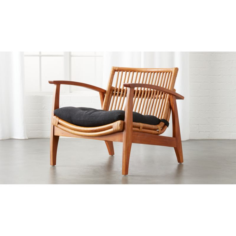 Noelie Rattan Lounge Chair With Cushion + Reviews