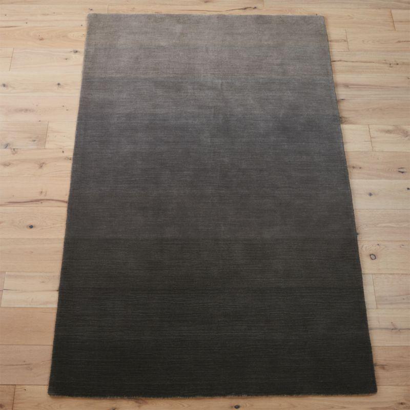 ombre grey rug  CB2