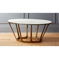 Parker Oval Marble Coffee Table + Reviews