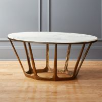 Parker Oval Marble Coffee Table + Reviews | CB2