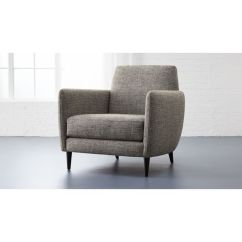 Grey Club Chair Ergonomic Reviews Parlor Cb2 Parlourchairlexisaltandpeppershs16 1x1