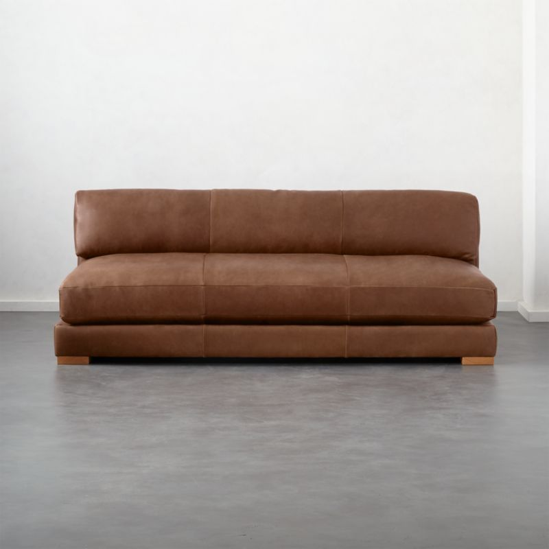 armless sofas wooden sofa manufacturers in delhi modern cb2 piazza leather