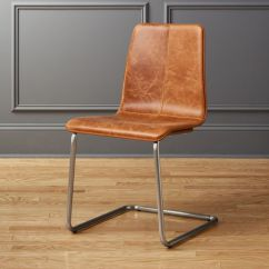 Leather Dining Chairs Computer Desk Chair Cb2 Pony