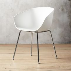 Modern Plastic Chair Swing Gazebo Chairs Cb2 Poppy White