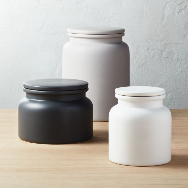 kitchen canister unique lighting modern canisters cb2 3 piece prep set