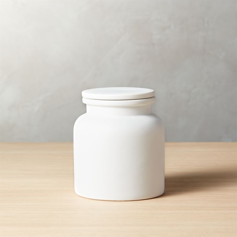 Prep Small White Canister  Reviews  CB2