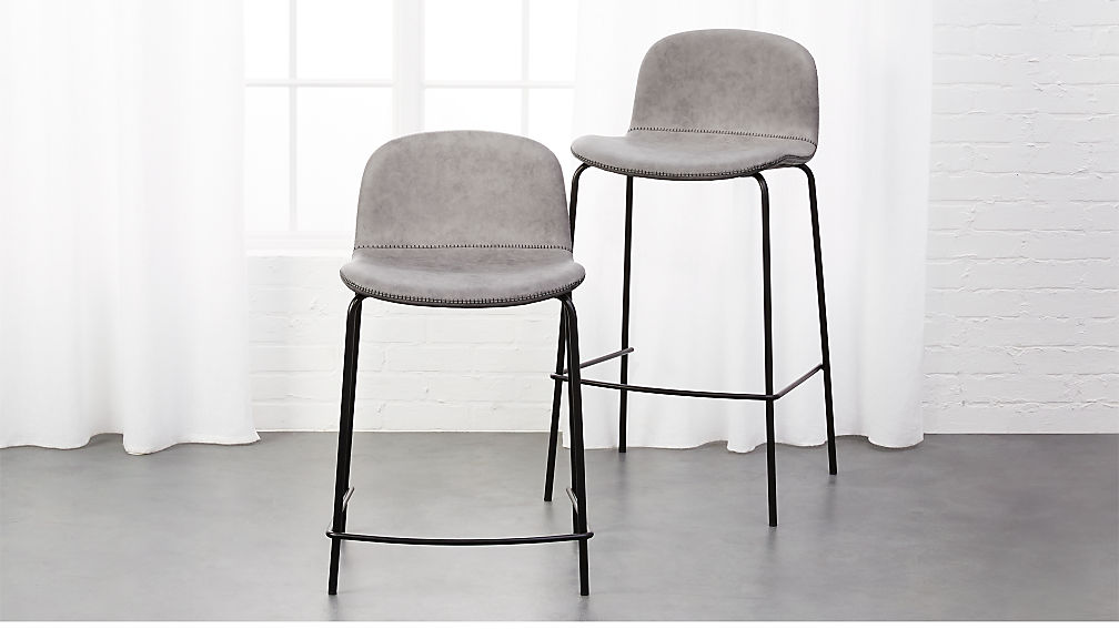 bar stool chair grey design interior primitivo stools cb2