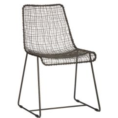 Black Wire Chair Covers And Bows Talbot Green Reed Reviews Cb2