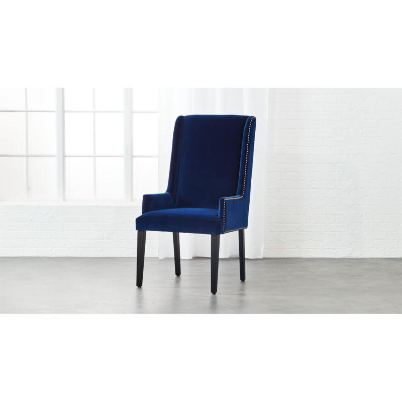velvet chair design brown leather arm reynolds navy reviews cb2 reynoldschairnavyvelvetshs17 1x1