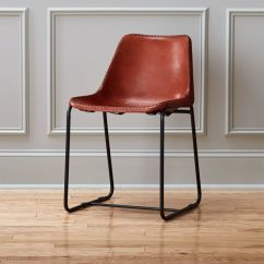 Wood And Leather Chair Best Chairs Tryp Dining Cb2 Roadhouse