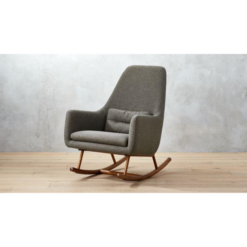 how to make a rocking chair not rock dining room protective covers saic quantam charcoal grey reviews cb2 saicquantamrockingchrcharshf17 1x1