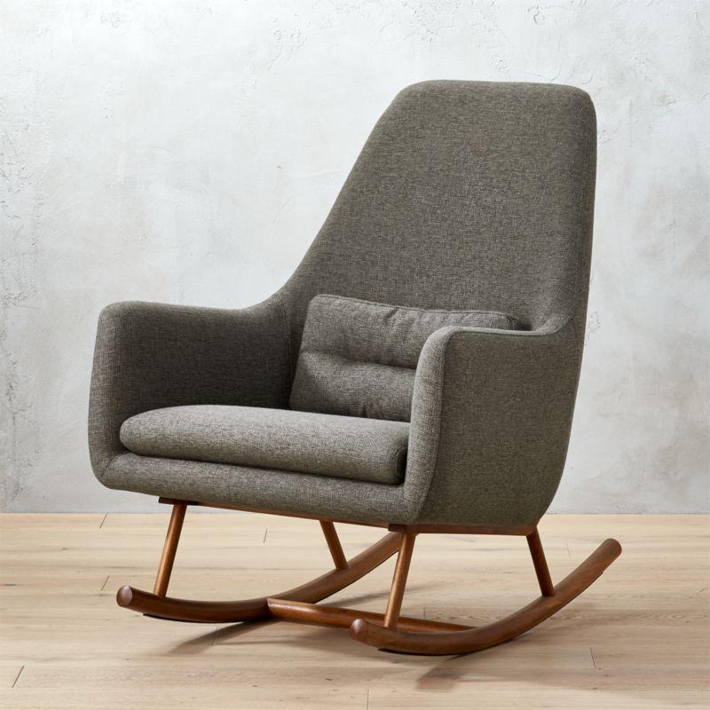 cheap modern rocking chair classy bean bag chairs cb2 saic quantam charcoal grey