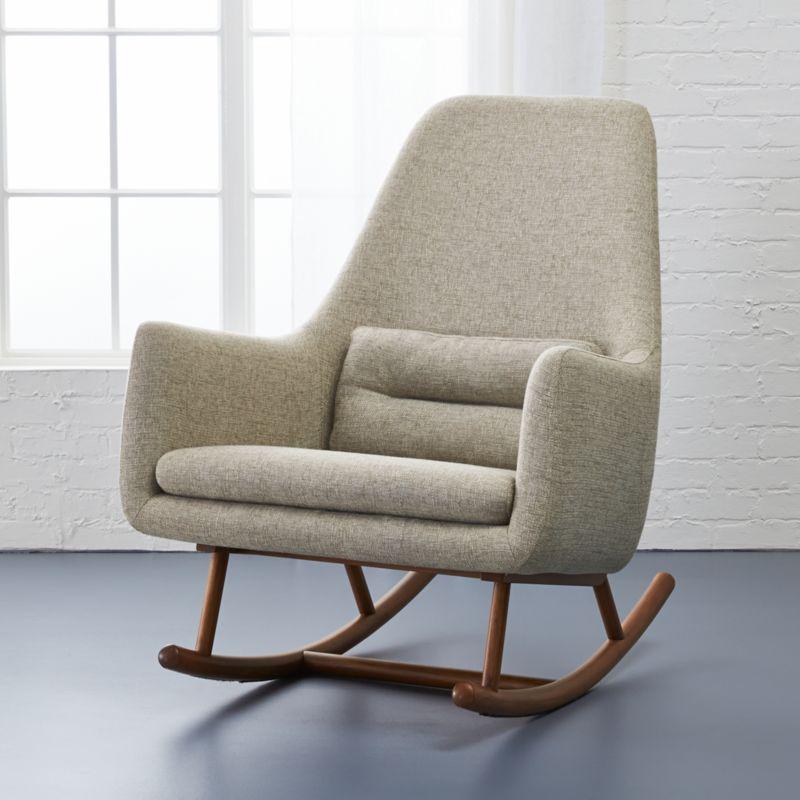cheap modern rocking chair fuschia accent chairs cb2