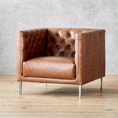 Dark Brown Leather Chair Office Carpet Protector Chairs Cb2 Savile Saddle Tufted