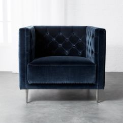 Bedroom Chairs Wooden Folding Directors Chair Cb2 Savile Midnight Blue Velvet