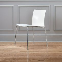 Silver Metal Dining Chairs Restaurant High Contemporary Cb2 Slim White Chair