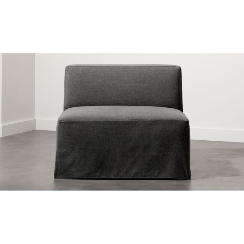 slipcover for armless chair wedding covers leicester grey modular reviews cb2