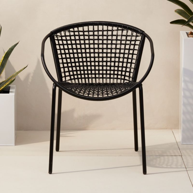 black rattan chair bed lounge chairs cb2 sophia dining