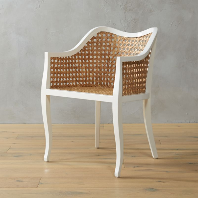 Taybas Cane Rattan Chair  Reviews  CB2