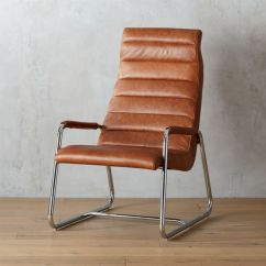 Lounge Chair Leather Upholstered Chairs With Wooden Arms Modern Cb2