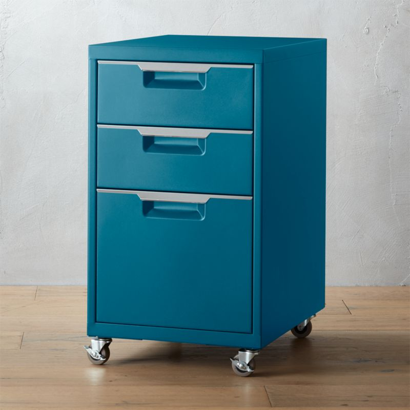 TPS 3Drawer Teal File Cabinet  Reviews  CB2