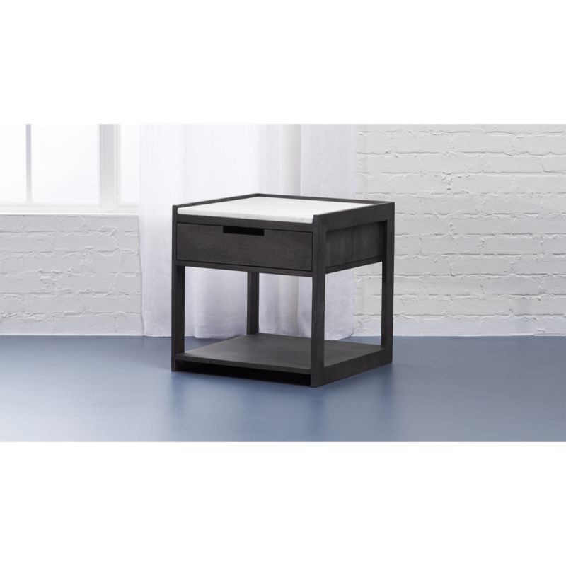 Tux Marble Top Nightstand + Reviews
