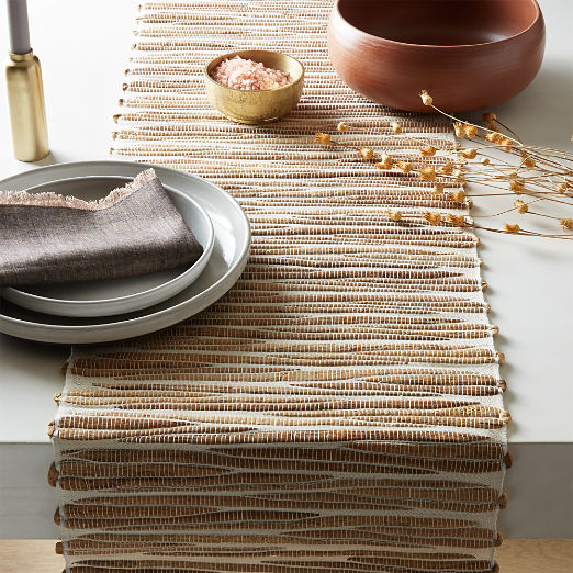 modern table runners cb2