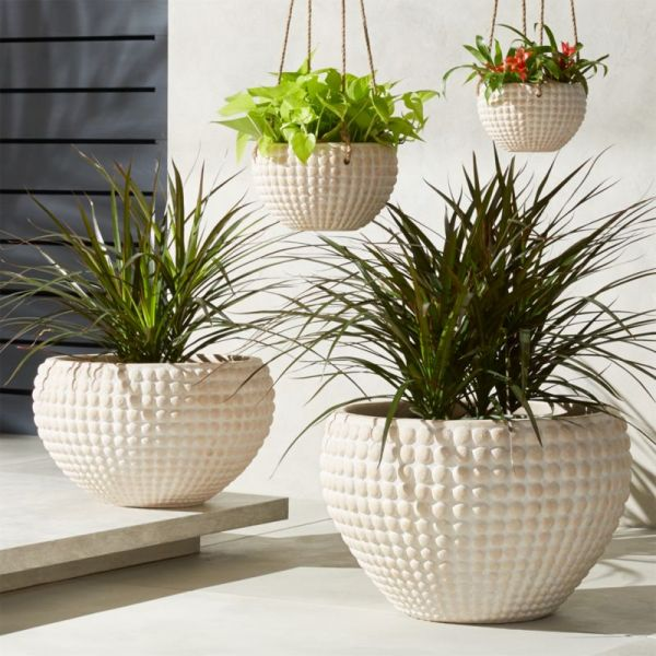 zola textured planters cb2