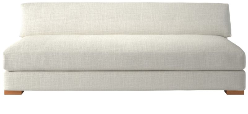 crate and barrel lounge sofa pilling white lacquer table piazza armless reviews cb2 tap to zoom shown in lindy snow