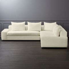 Wide Sofas Pier One And Loveseats Arlo 3 Piece Snow Arm Sectional Sofa Reviews Cb2