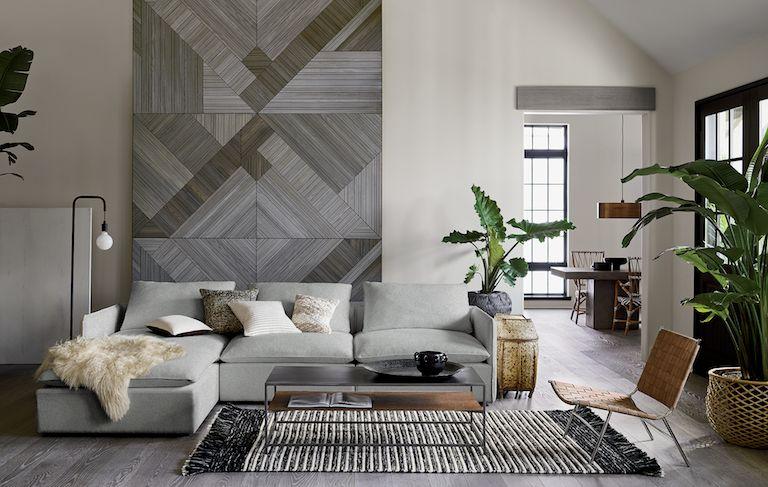 wallpaper ideas for living rooms sophisticated room modern | cb2