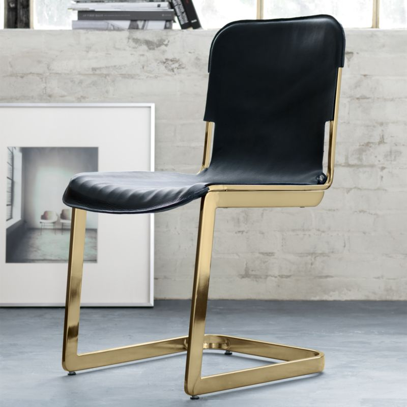 leather sling chairs kmart dining cb2