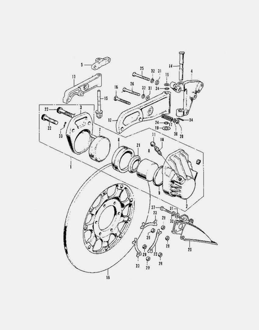 medium resolution of diagram front brake caliper disk