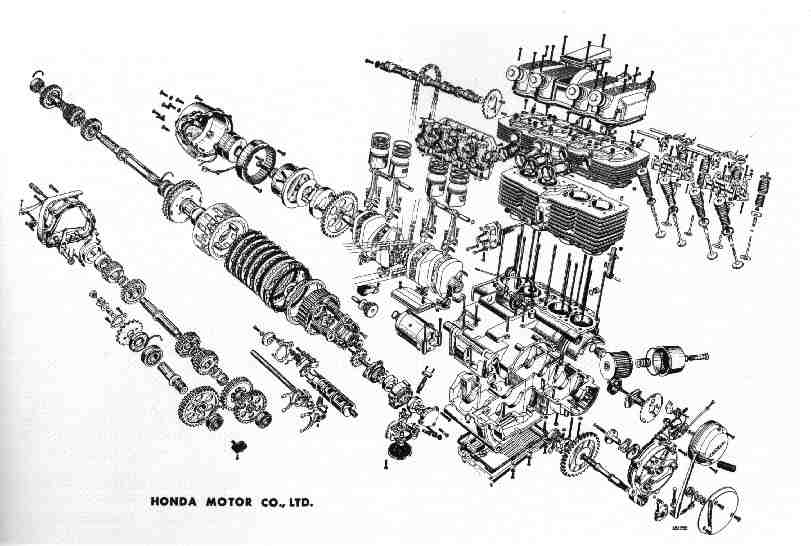 Exploded View K2 (and Lower) engine