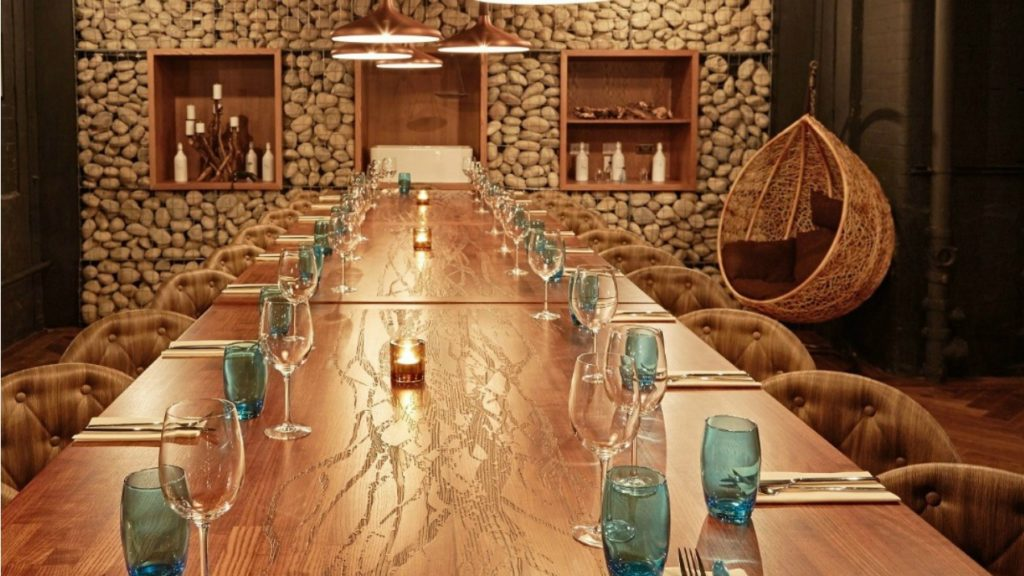 5 office christmas party ideas cba events for Best private dining rooms manchester