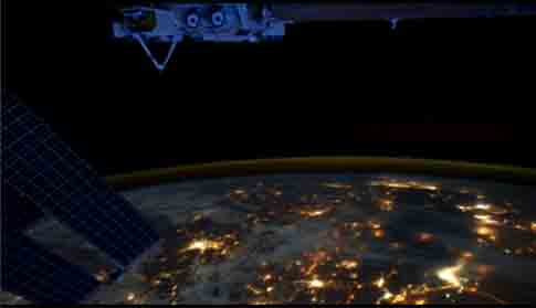 ISS Time-lapse Photography of Illuminated Earth