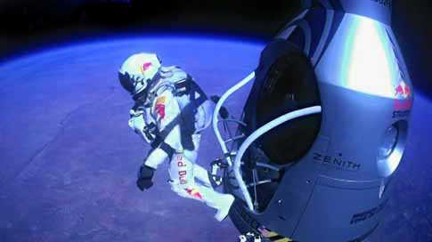 Austrian Pilot Felix Baumgartner Breaks Sound Barrier in Historic Jump