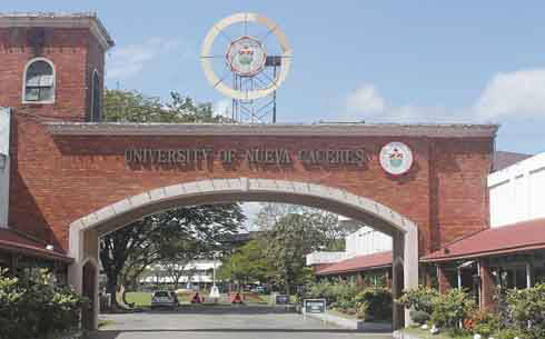 UNC. Façade of the University of Nueva Caceres in Naga City.