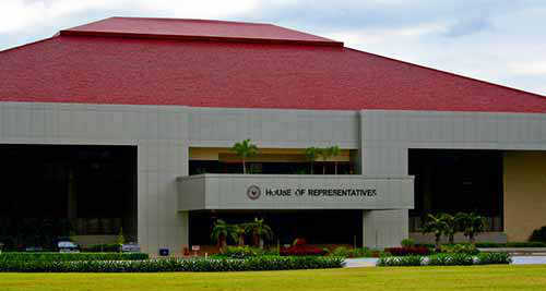 2015_0522_BatasangPambansa267: The august House of Representatives, Batasan Pambansa building façade.