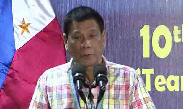 President Duterte visits officers and men of 9th ID in Camarines Sur
