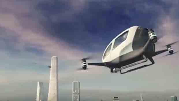 Autonomous flying taxi soon in Dubai on July 2017
