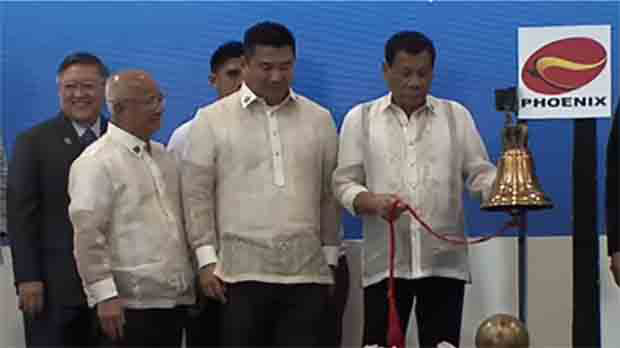 President Rodrigo Duterte at the 10th Listing Anniversary of Phoenix Petroleum Philippines, Inc.